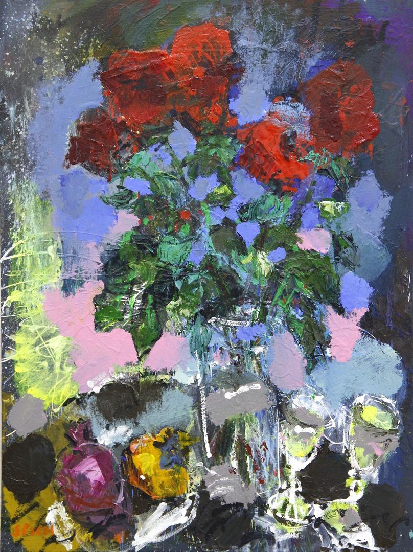 Ilya Pavlovich Spichenkov. Night bouquet