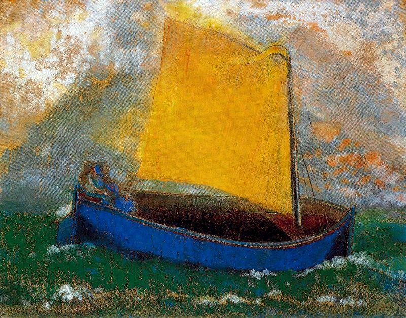 Одилон Редон. Синяя лодка