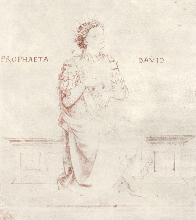 Фра Беато Анджелико. Царь Давид, играющий на арфе