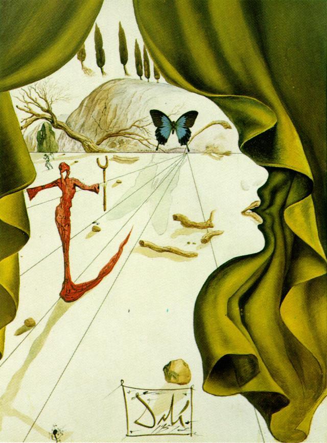 Salvador Dali. Portrait Of Katharina Cornell