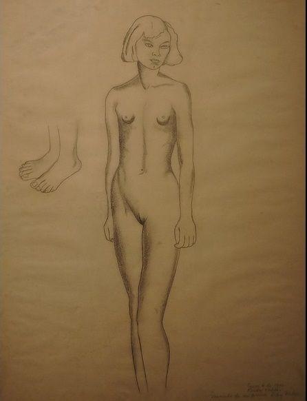 Frida Kahlo. Nude Adi Weber (My cousin)
