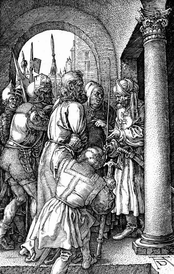 Альбрехт Дюрер. Христос перед Пилатом