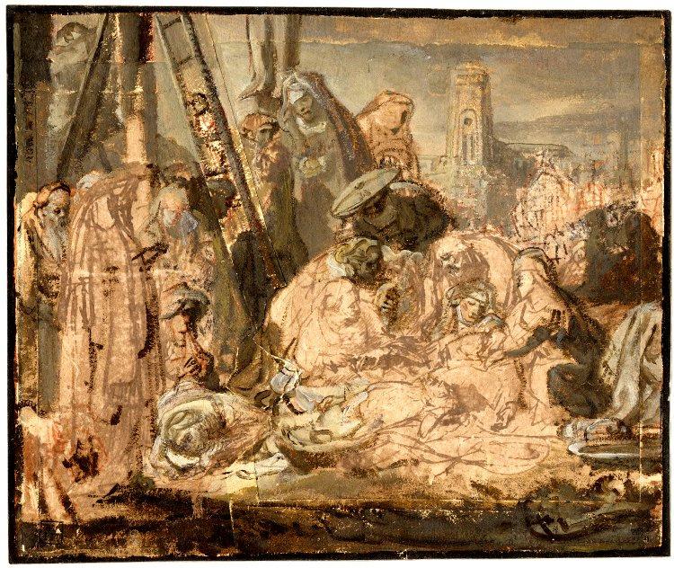 Rembrandt Harmenszoon van Rijn. The Lamentation at the Foot of the Cross