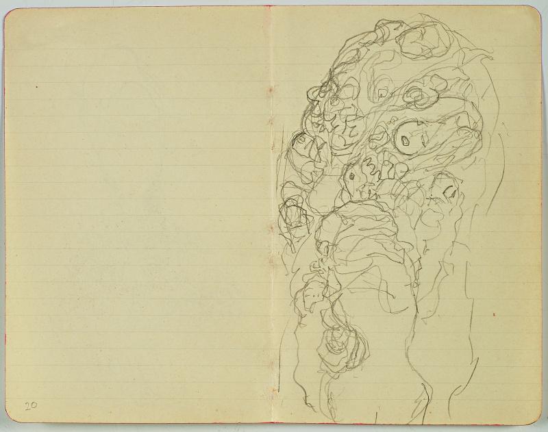Gustav Klimt. Sketch from the notebook (the Bride)