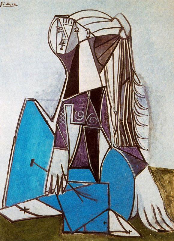 Пабло Пикассо. Девушка с длинными волосами