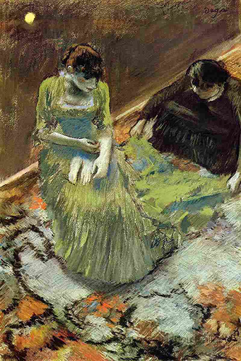 Edgar Degas. Before going on stage