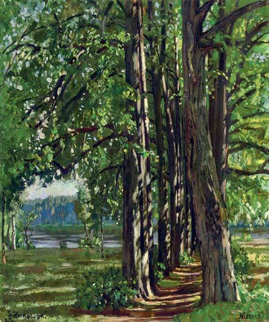Stanislav Yulianovich Zhukovsky. The landscape around the river Neman