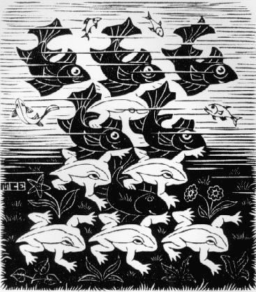 Мауриц Корнелис Эшер. Рыбы и лягушки
