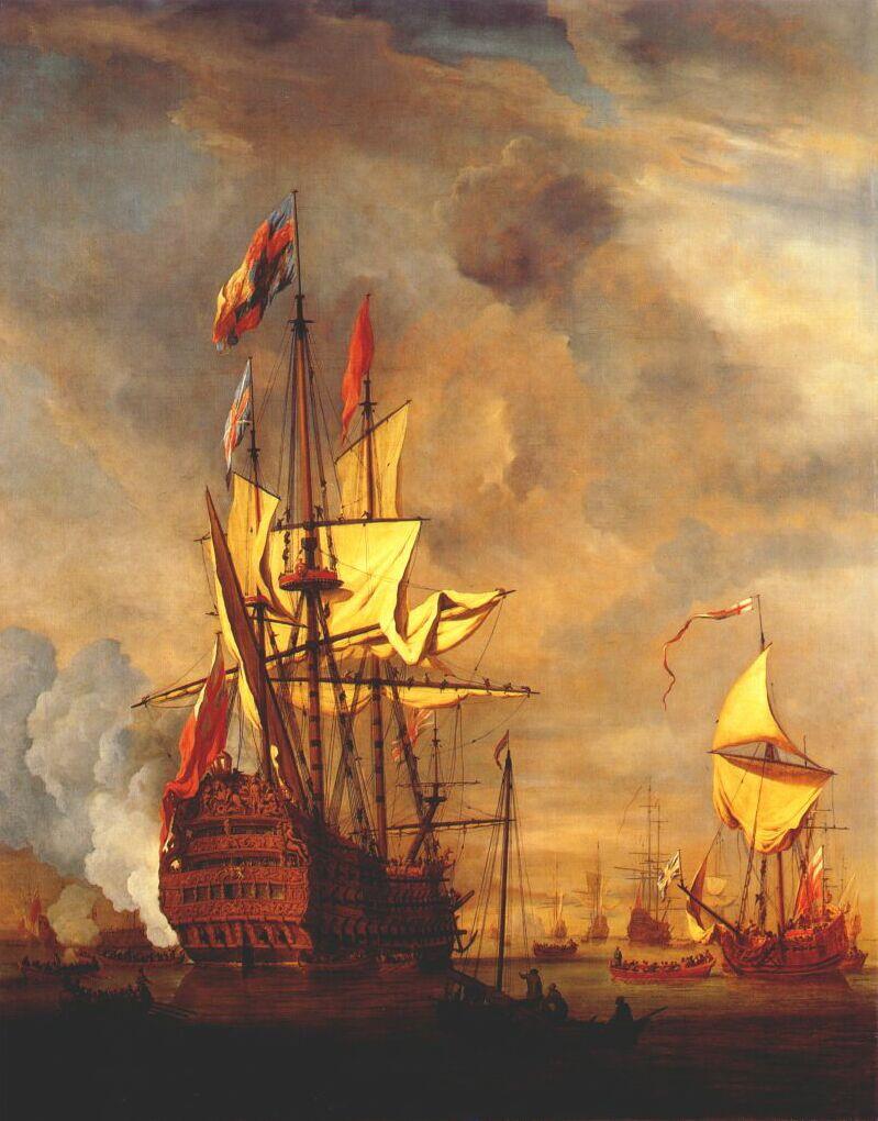 Willem van de Welde the Younger. Royal yacht