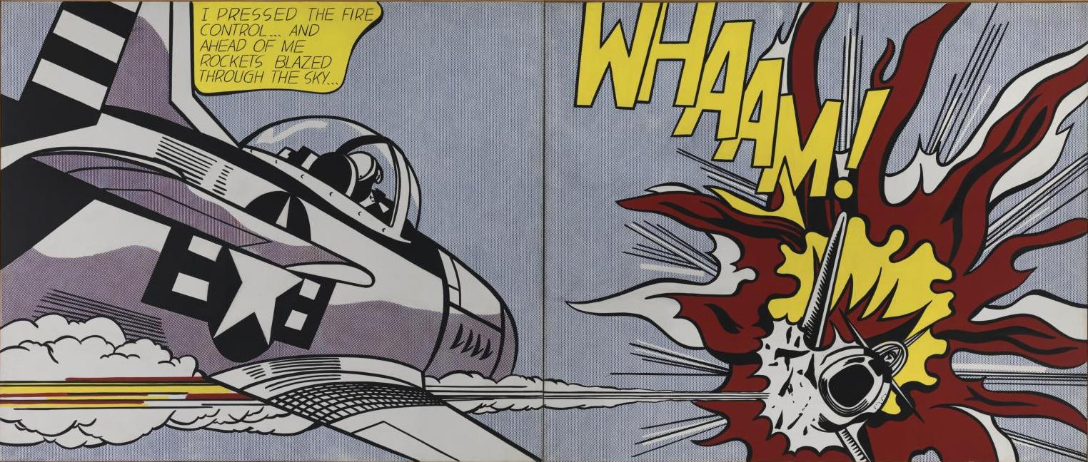 Roy Lichtenstein. Wow!