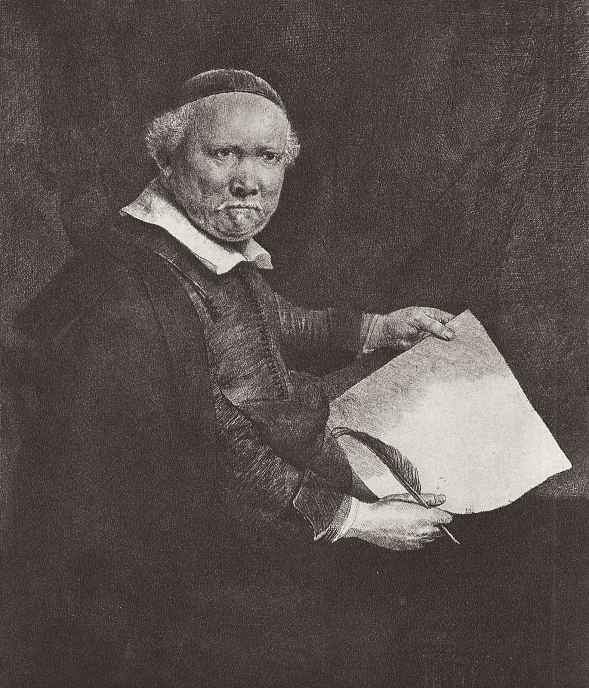 Рембрандт Харменс ван Рейн. Портрет каллиграфа Коппеноля