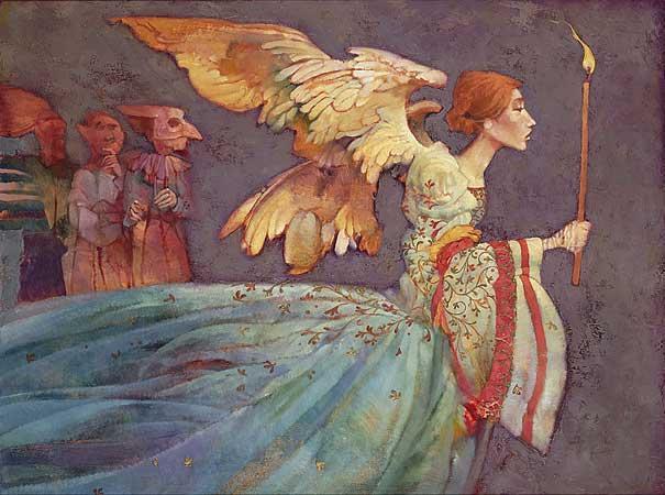 Джеймс Кристенсен. Ангел и три демона
