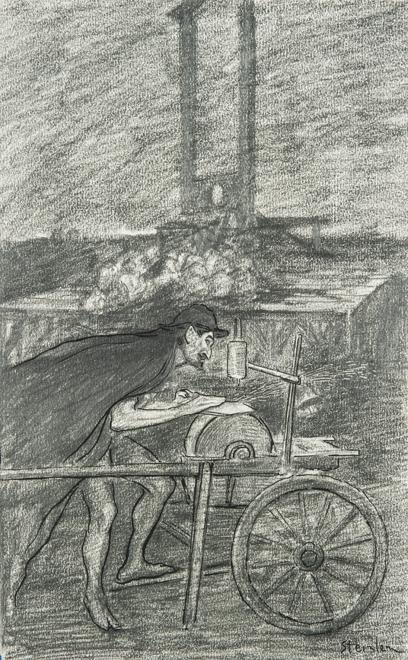 Theophile-Alexander Steinlen. Grinder (the Song of the guillotine)