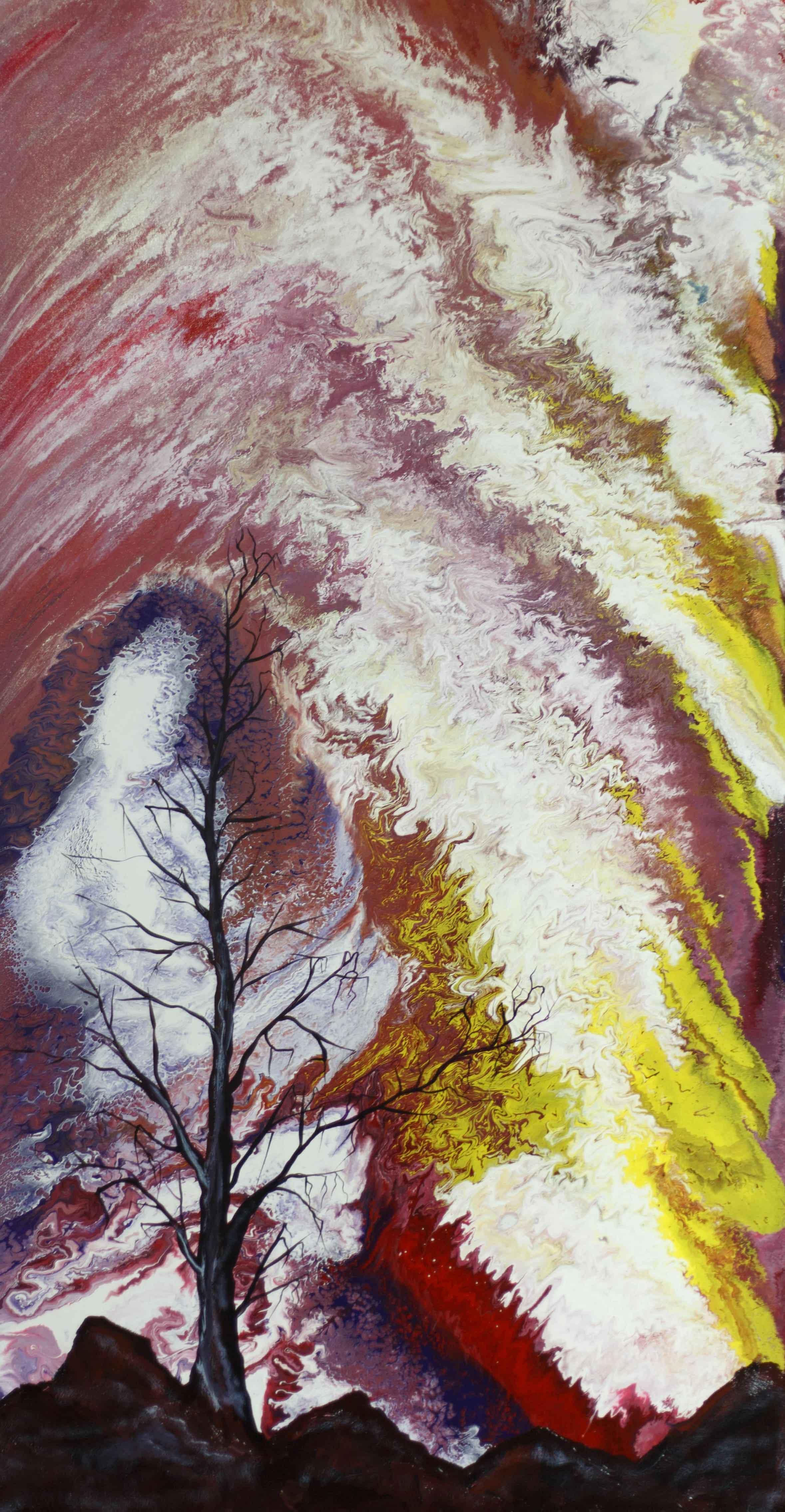 "Alla Struchayeva. The painting ""Space Nebula"""