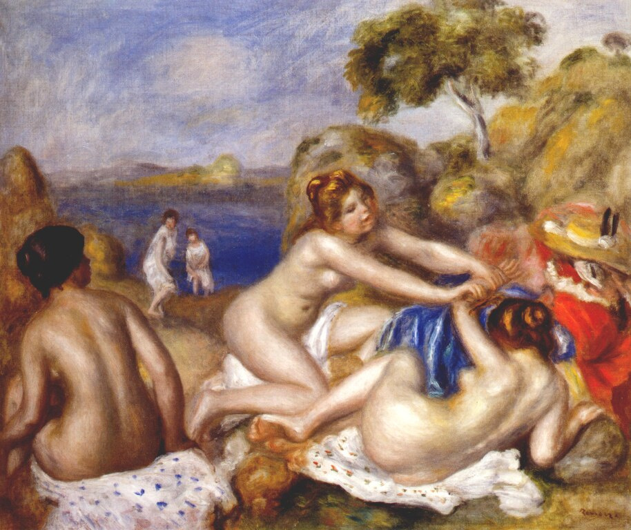 Pierre-Auguste Renoir. Bathers with a crab