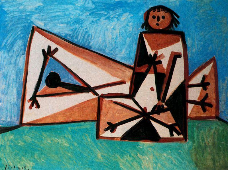 Пабло Пикассо. Мужчина и женщина на пляже