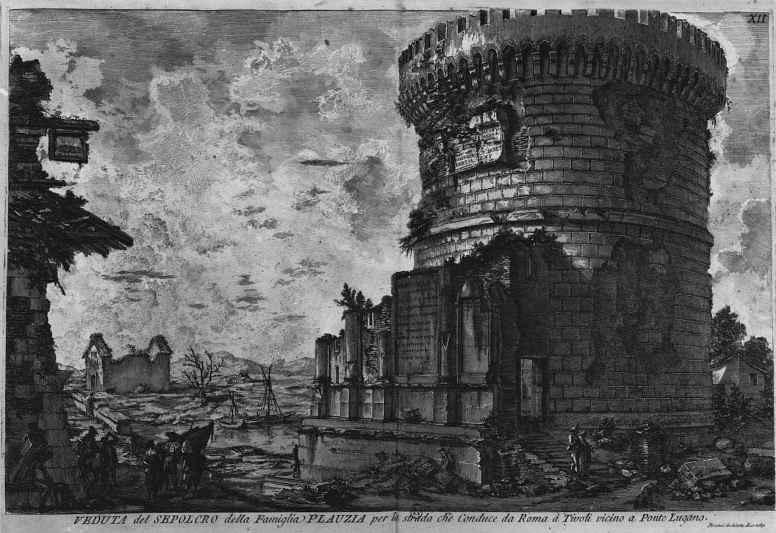 Джованни Баттиста Пиранези. Гробница семьи Плавтов