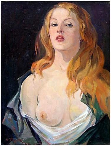Albert Tsovyan. Portrait of a woman - 1963 oil on canvas - 66.0 x 50.0.