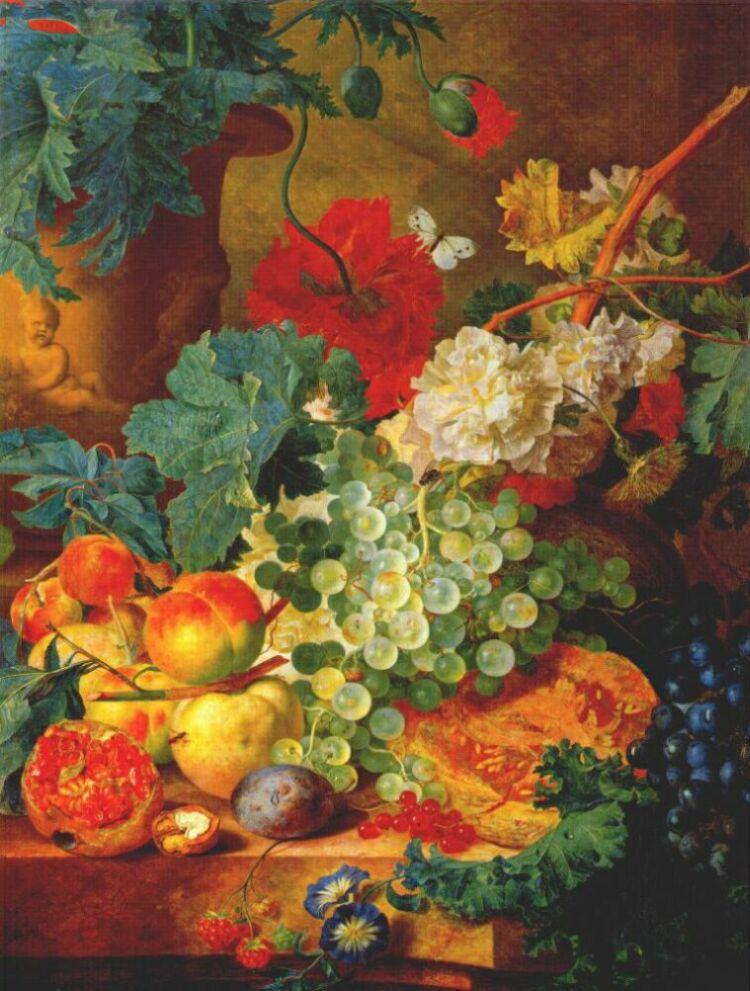 Ян ван Хейсум. Фруктовый натюрморт
