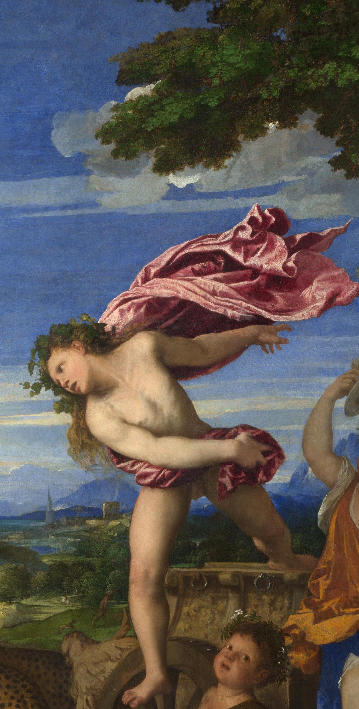 Titian Vecelli. Bacchus and Ariadne. Fragment 4. Bacchus