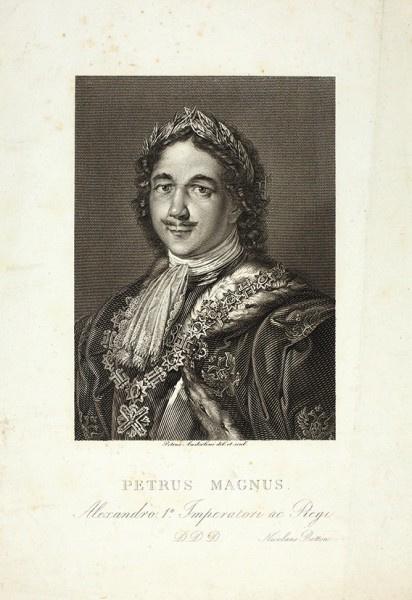 Пьетро Андерлони. «Портрет Императора Петра Великого». 1820-е.  офорт, резец