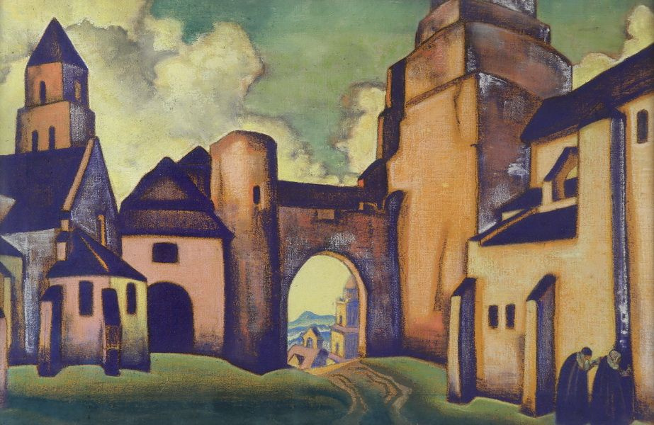 Nicholas Roerich. The city. The secrets of the walls