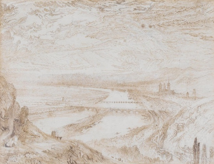 John Ruskin. View of Rouen from the hill of St. Catherine