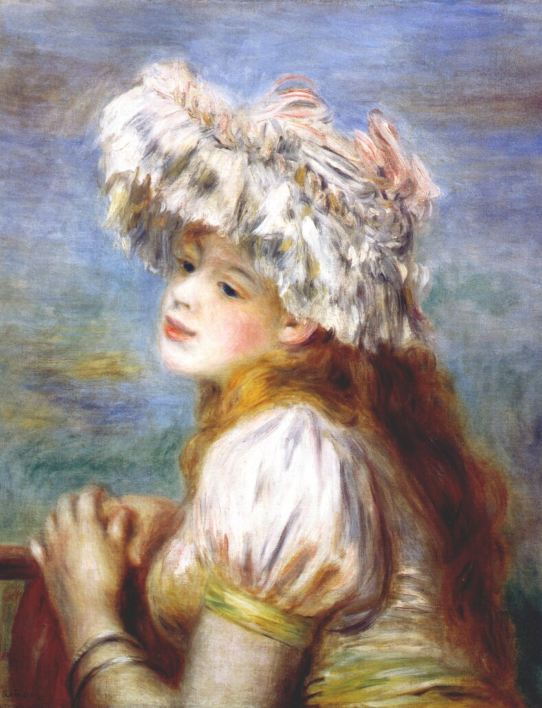 Pierre-Auguste Renoir. Girl in a lace hat