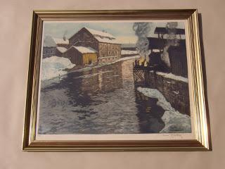 Frits Thaulow. River landscape.