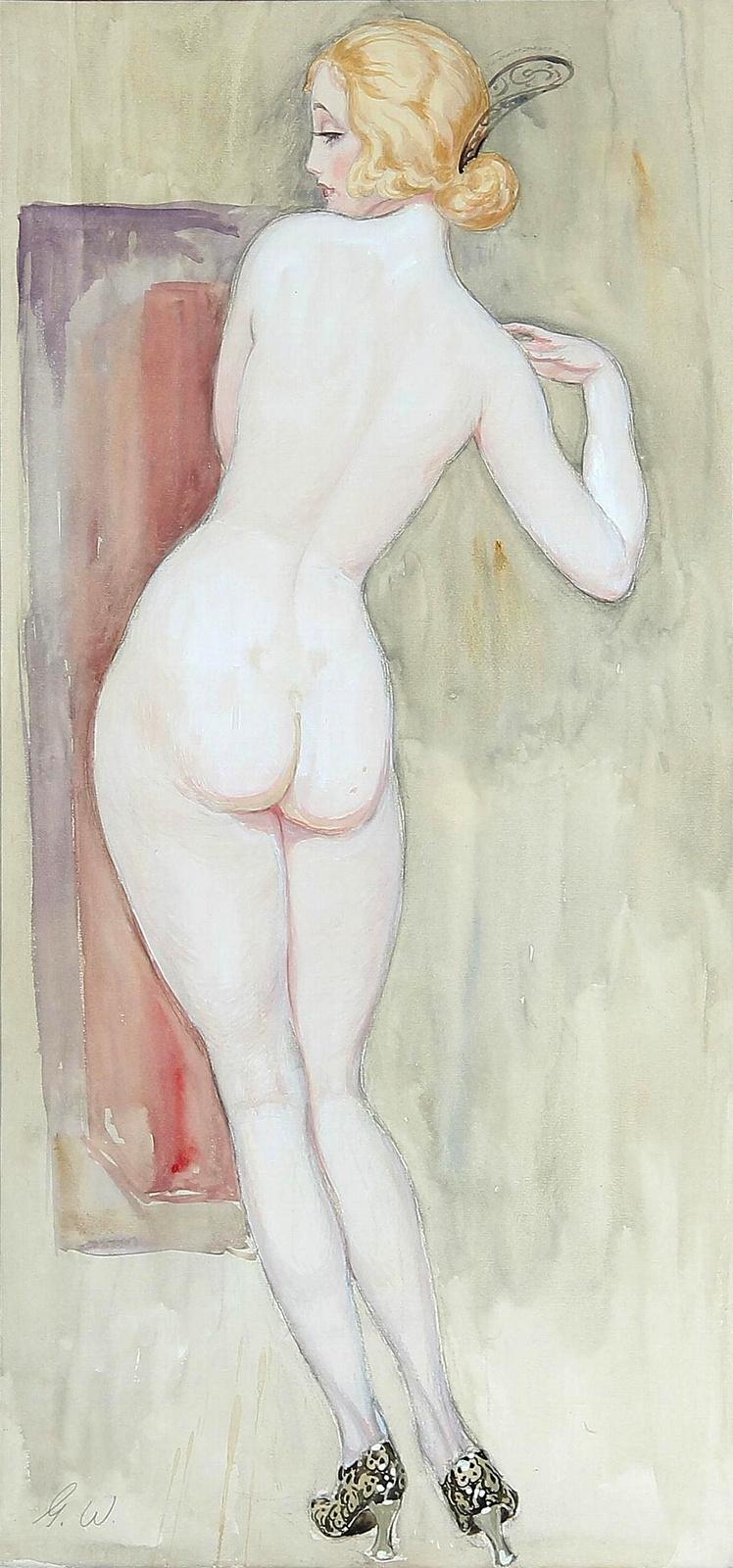 Gerda Wegener. Nude from the back