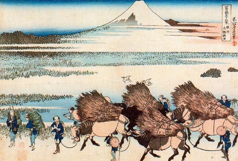 Кацусика Хокусай. Перевозка сена