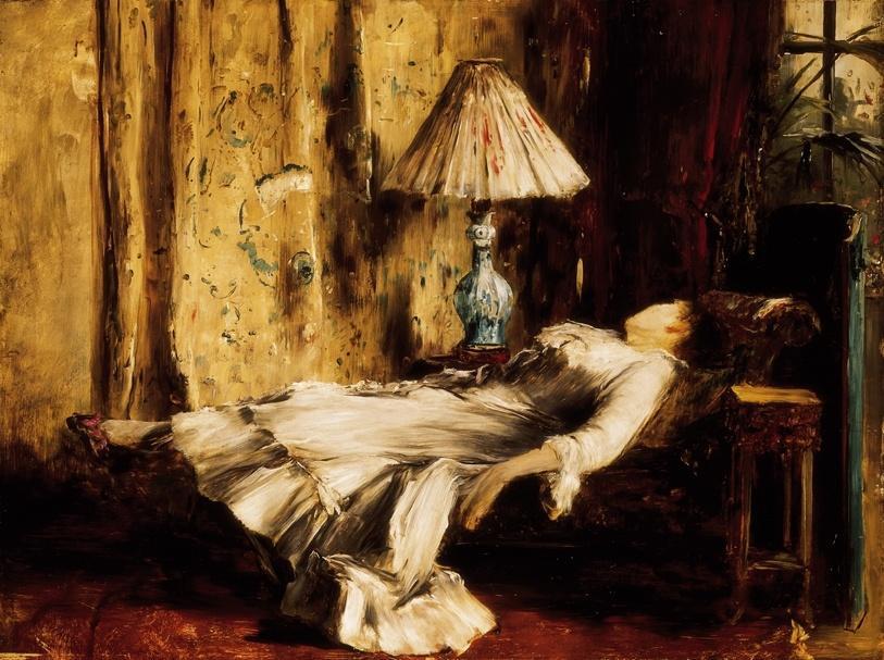 Михай Либ Мункачи. Спящая женщина