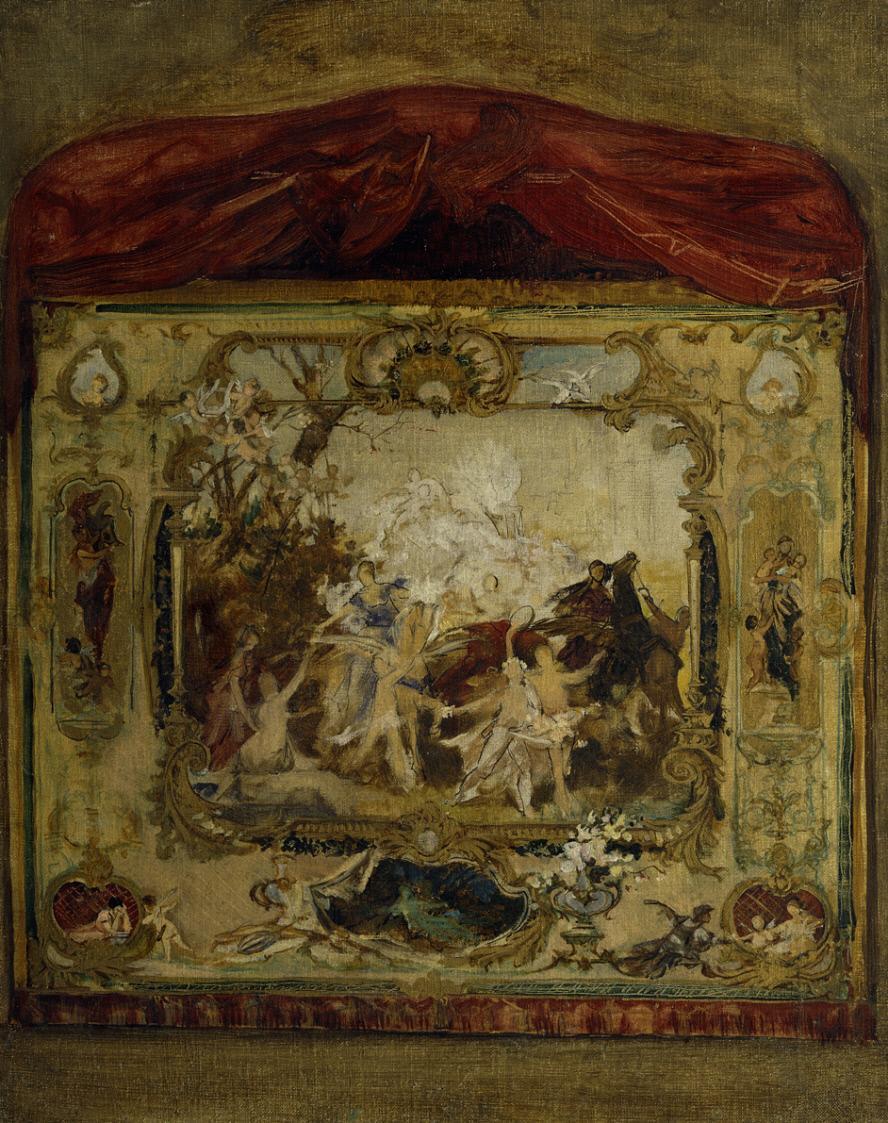 Gustav Klimt. Projet de rideau de théâtre de la ville de Carlsbad