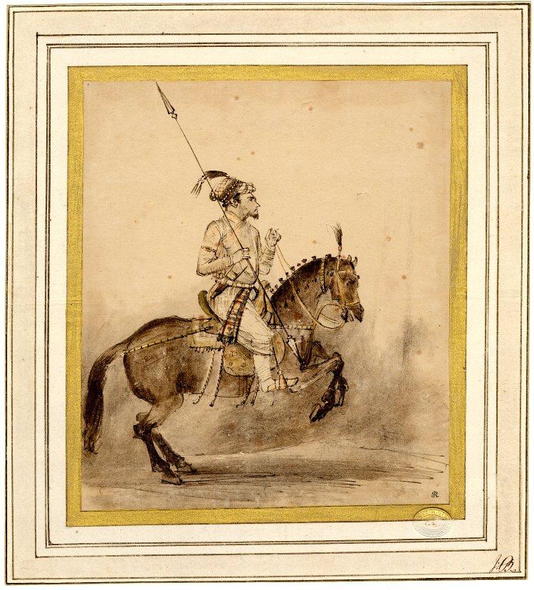 Rembrandt Harmenszoon van Rijn. The great Mogul on a horse