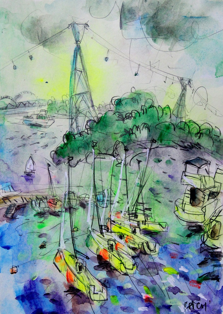 """Ilya Pavlovich Spichenkov. From the series """"Wind Flight"""". Yacht Club Summer. Nizhny Novgorod 2019"""