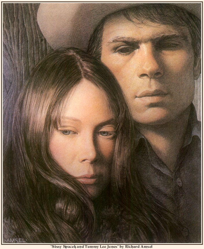 Richard Amsell. Sissy Spacek and Tommy Lee Jones