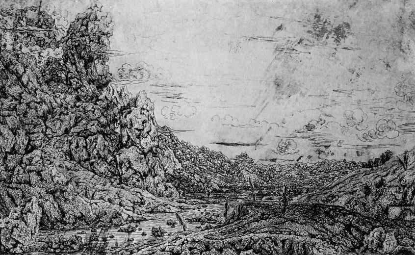 Херкюлес Питерс Сегерс. Речная долина с четырьмя деревьями