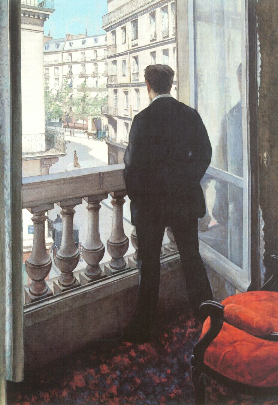 Gustave Caillebotte. The young man at the window