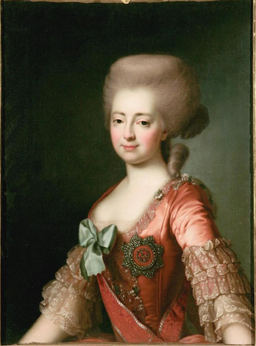 Dmitry Grigorievich Levitsky. Portrait of Grand Duchess Maria Feodorovna