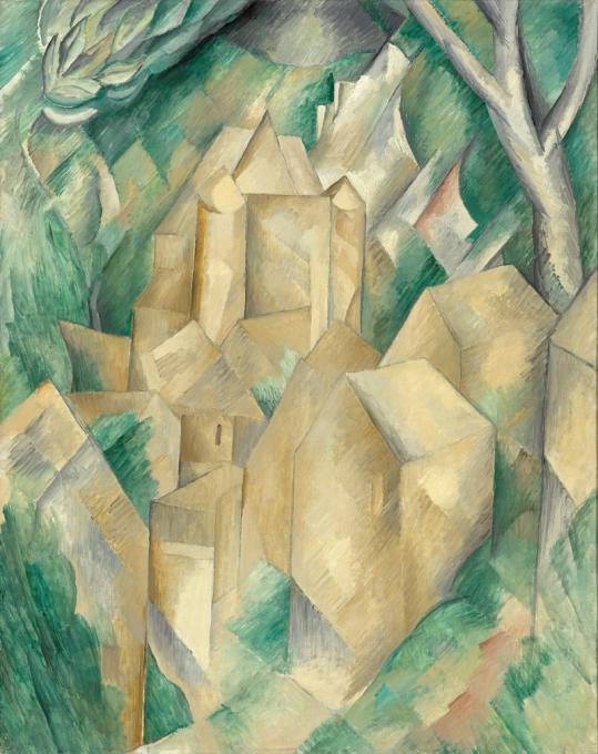 Georges Braque. The New Castle at La Roche-Guyon