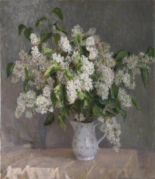 Diana V. Korobkina.. White still life. 2012 80 x70 x. m