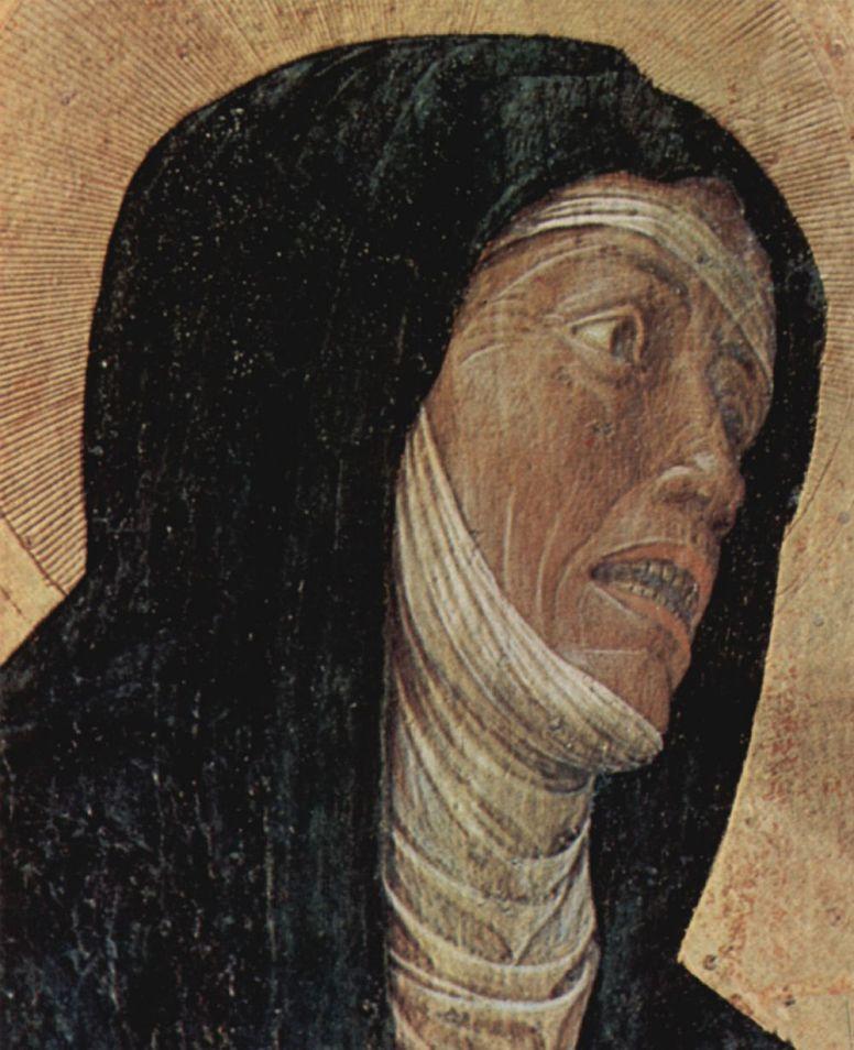 Андреа Мантенья. Алтарь св. Луки, деталь: Мария