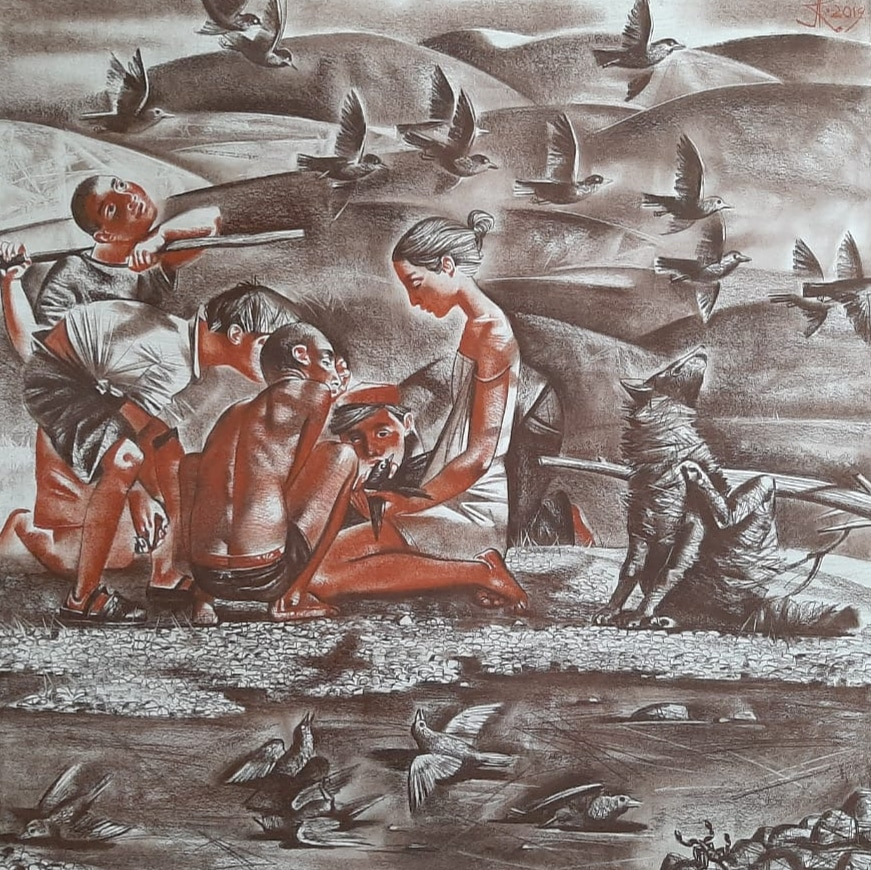 Alexander Sergeevich Krivonos. Birds in resin