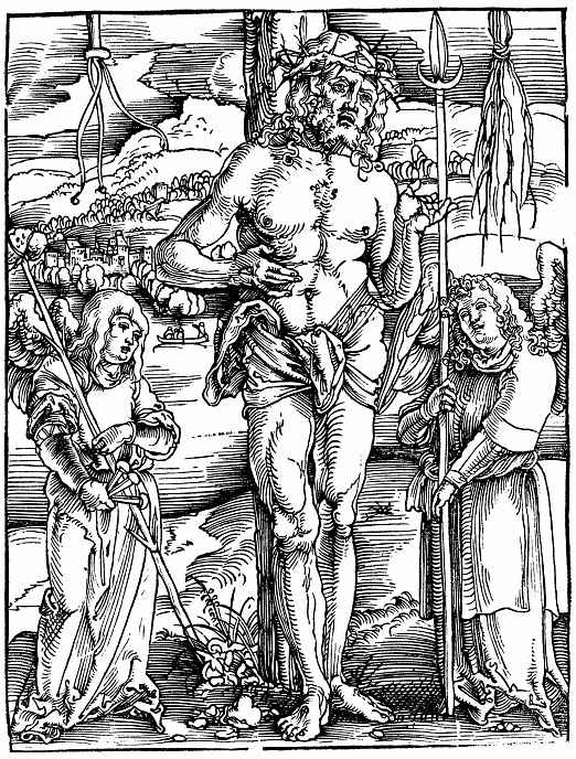 Ханс Бальдунг. Христос между двумя ангелами