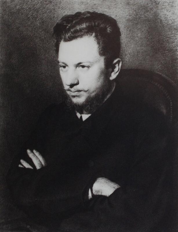 Ilya Efimovich Repin. Portrait of A. V. Prakhov. State Russian Museum.