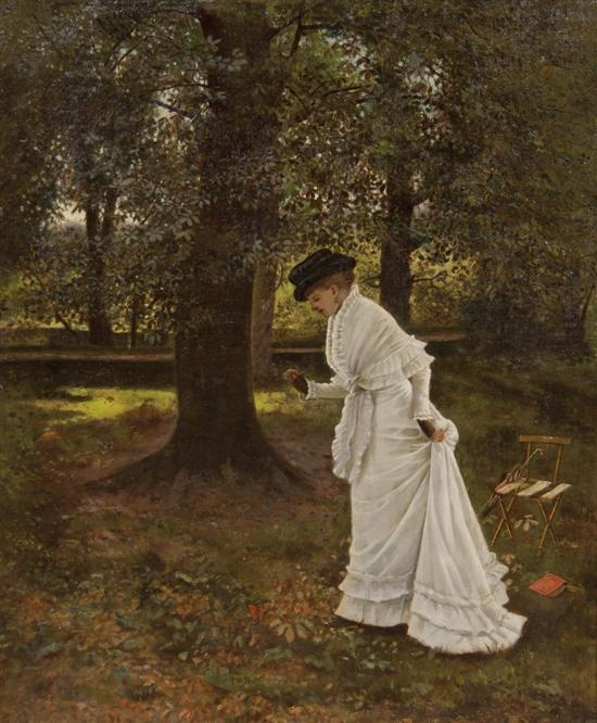 Arthur Hughes. Woman in the park