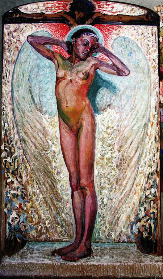Alexey (Oleksa) Novakovsky. Awakening. On the background of the crucifix