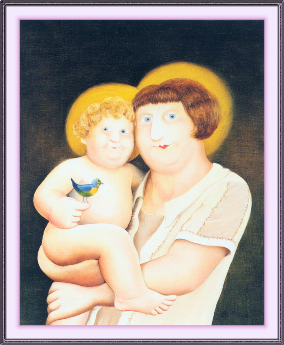 Beryl Cook. The virgin and child