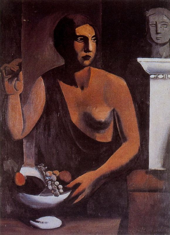 Марио Сирони. Женщина с фруктами