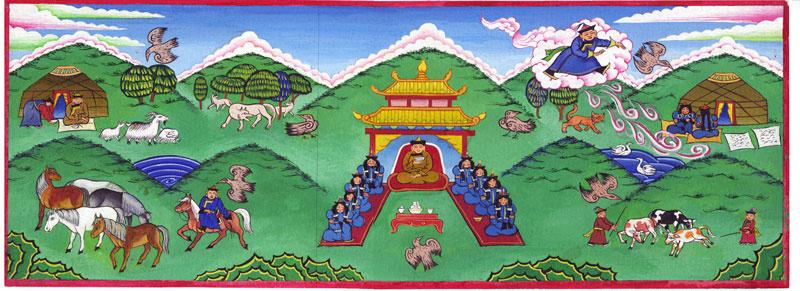 Balto Lyksokov. Illustration for the Buryat tale